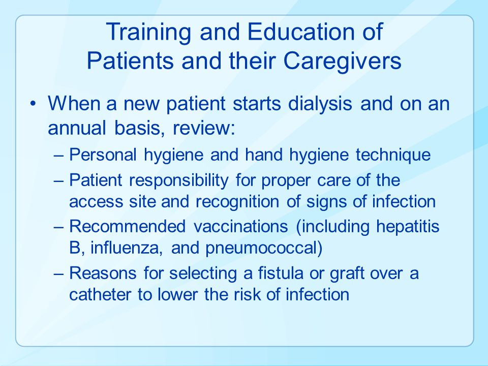 Training and Education of Patients and their Caregivers