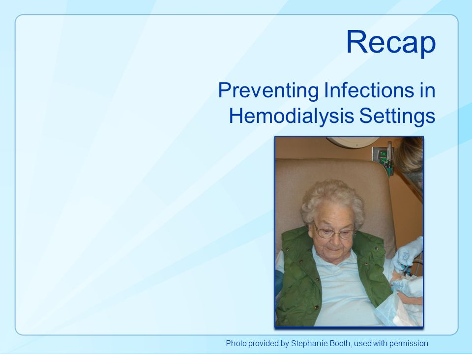 Preventing Infections in Hemodialysis Settings