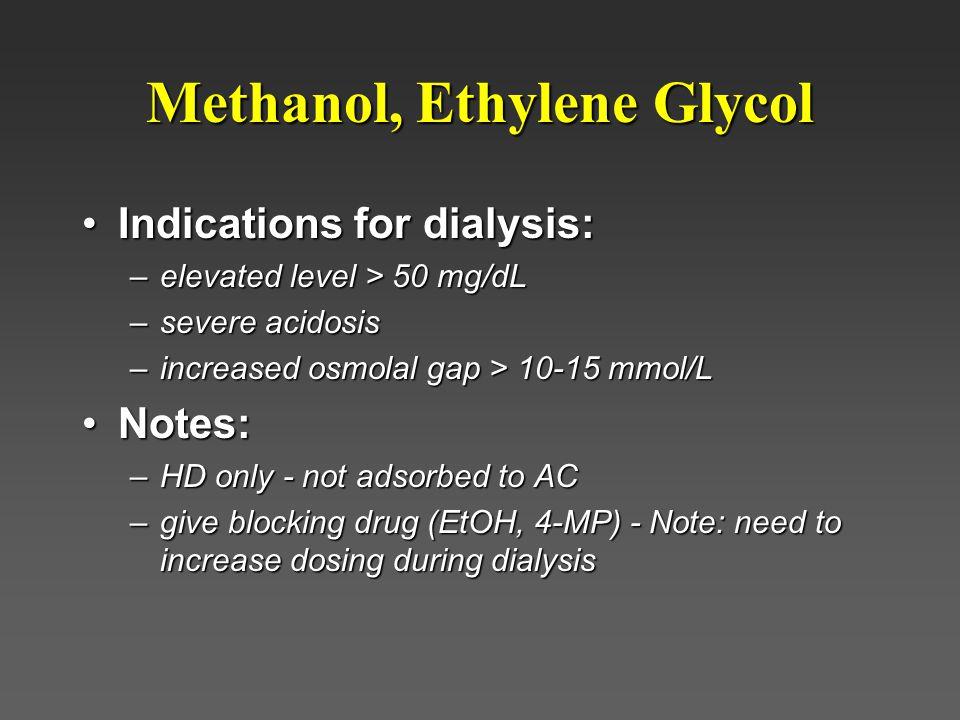 Methanol, Ethylene Glycol
