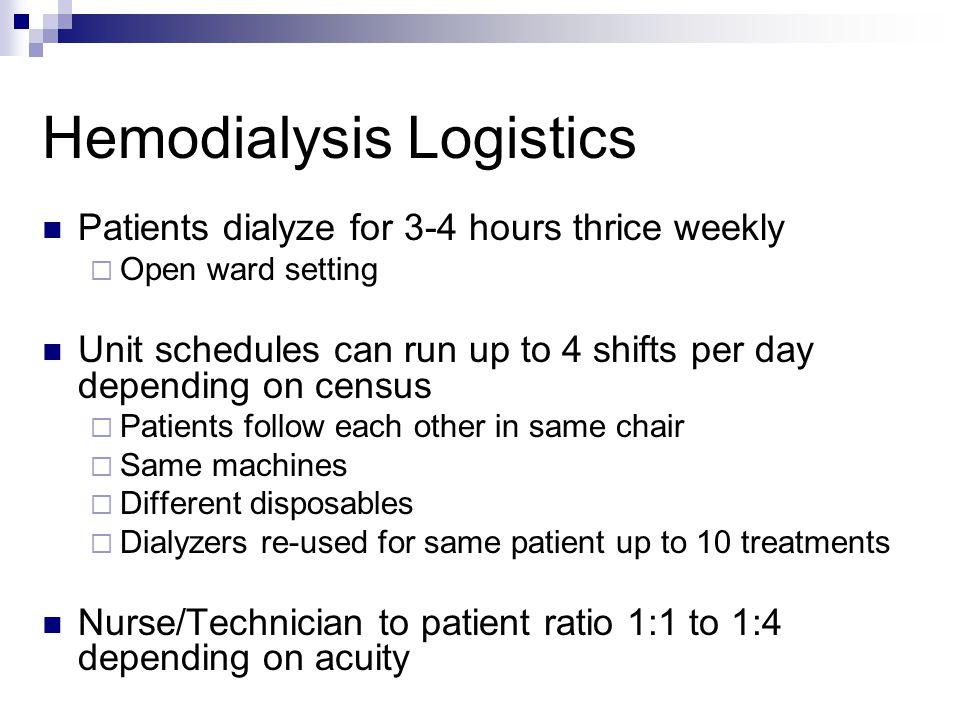 Hemodialysis Logistics