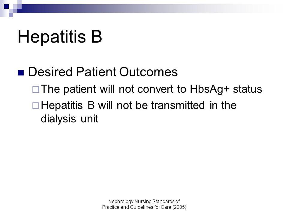 Hepatitis B Desired Patient Outcomes