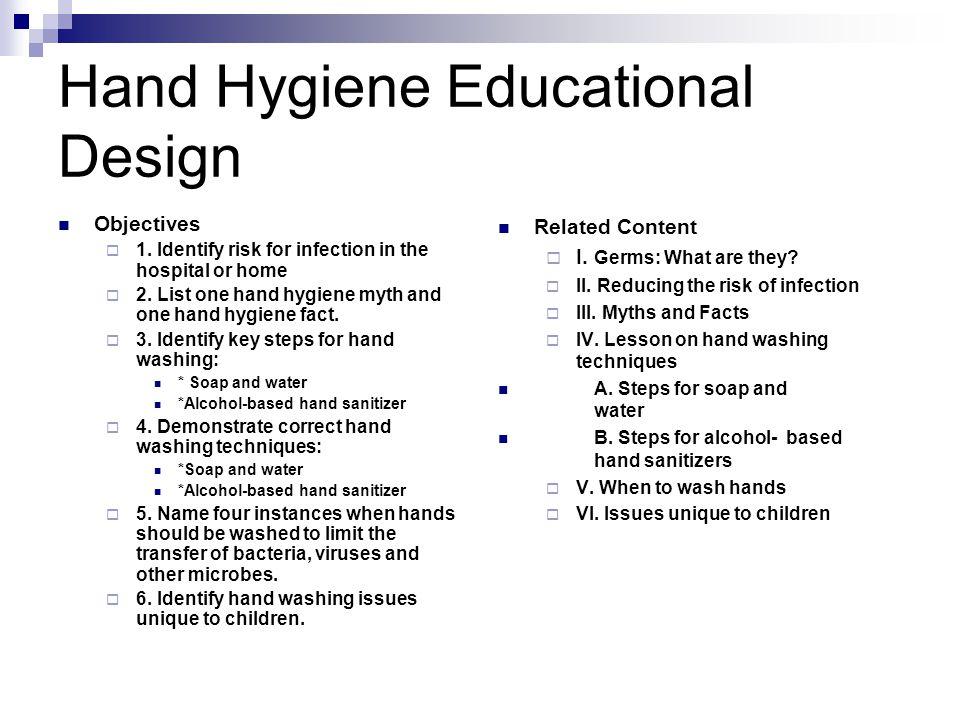 Hand Hygiene Educational Design