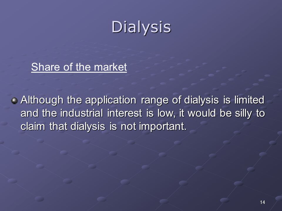 Dialysis Share of the market