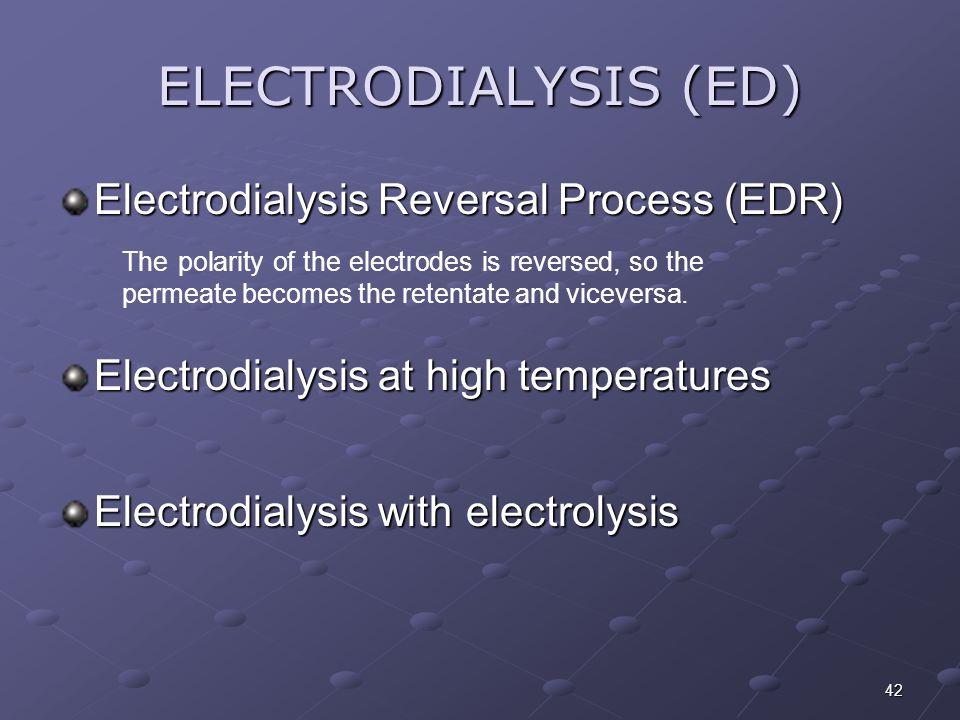 ELECTRODIALYSIS (ED) Electrodialysis Reversal Process (EDR)