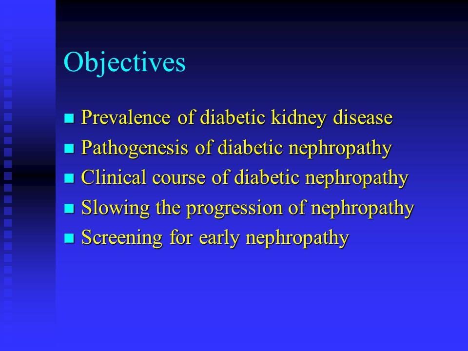 Objectives Prevalence of diabetic kidney disease
