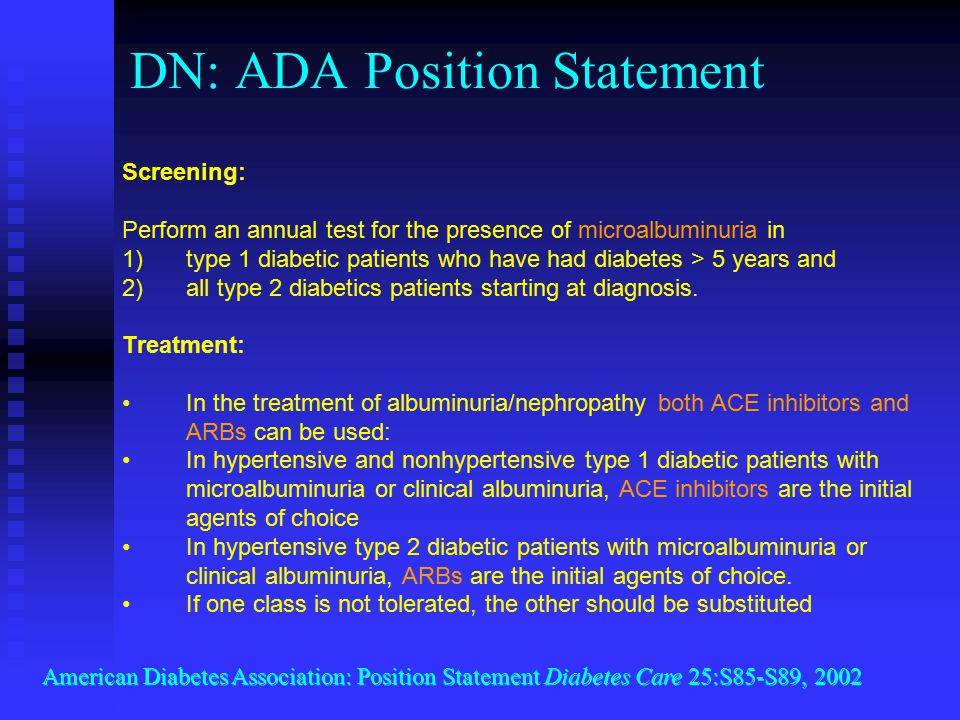 DN: ADA Position Statement
