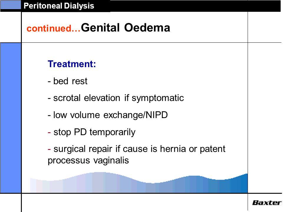 continued…Genital Oedema