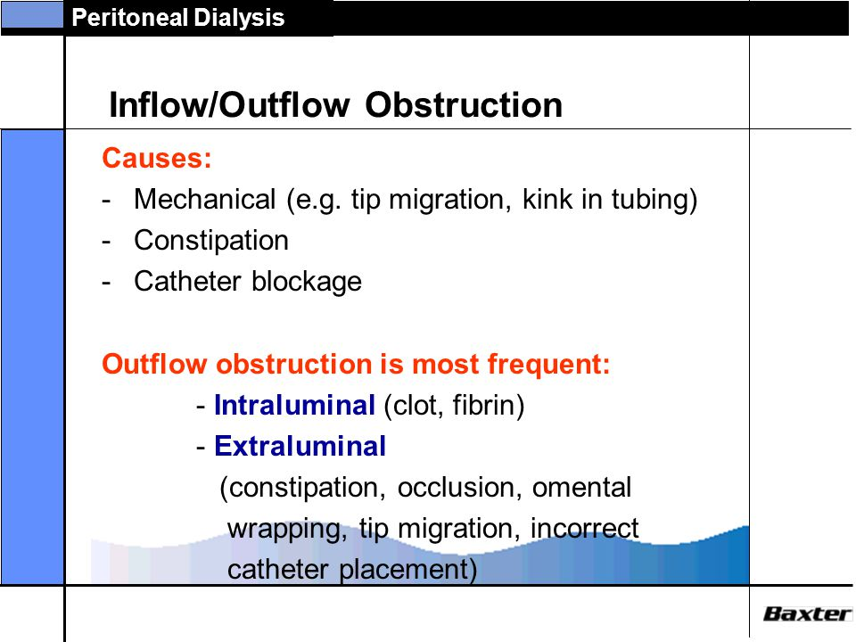 Inflow/Outflow Obstruction