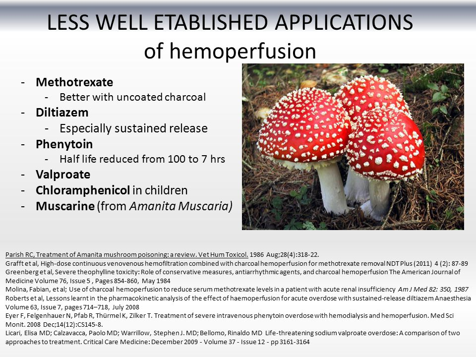LESS WELL ETABLISHED APPLICATIONS of hemoperfusion