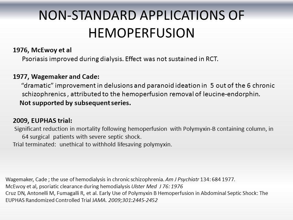 NON-STANDARD APPLICATIONS OF HEMOPERFUSION