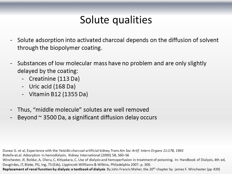 Solute qualities Solute adsorption into activated charcoal depends on the diffusion of solvent through the biopolymer coating.