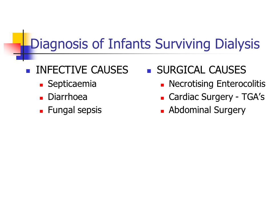 Diagnosis of Infants Surviving Dialysis
