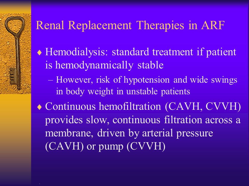 Renal Replacement Therapies in ARF