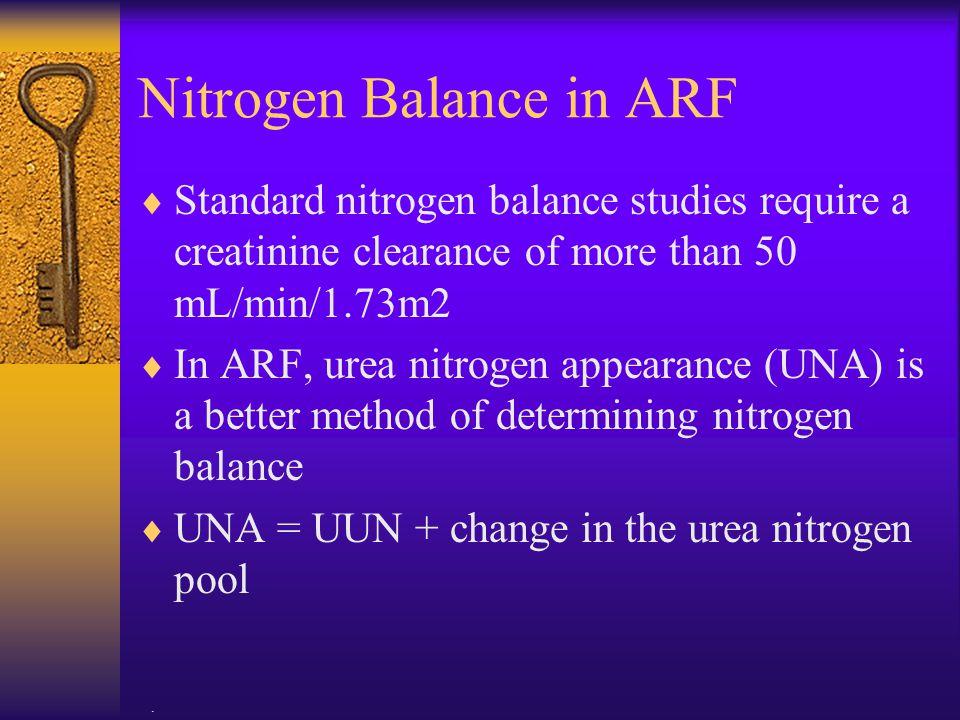 Nitrogen Balance in ARF