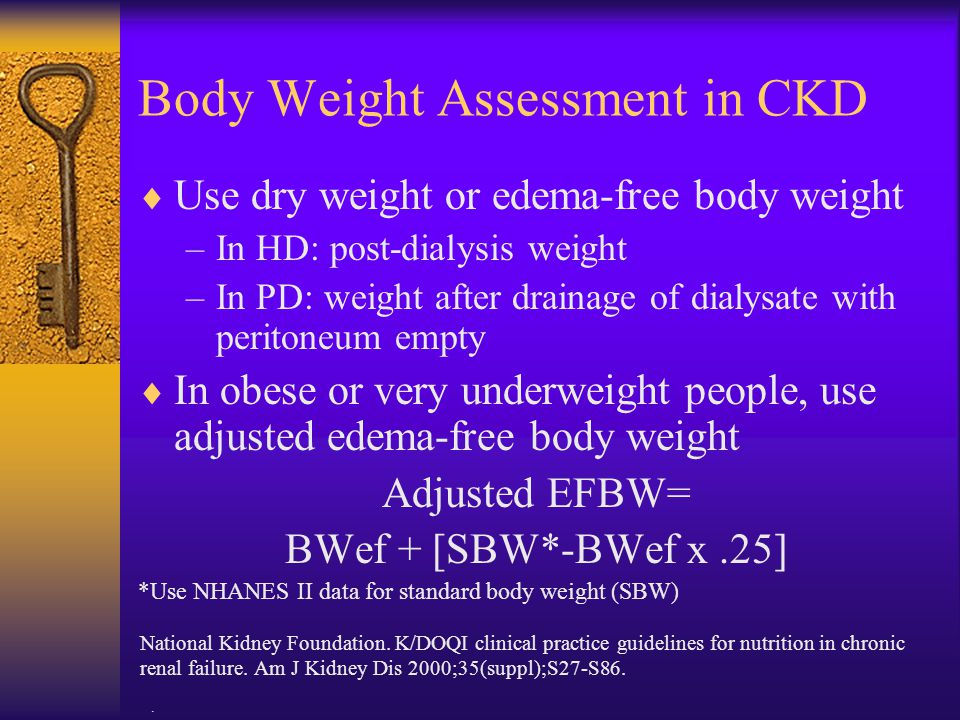Body Weight Assessment in CKD