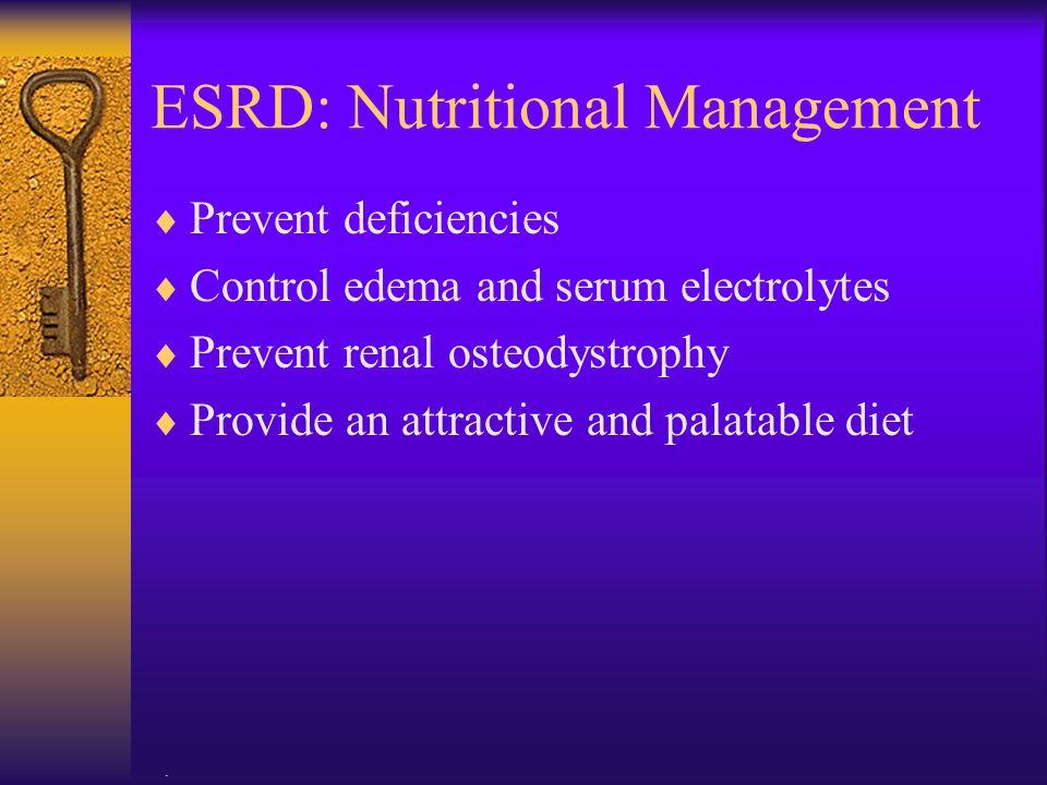 ESRD: Nutritional Management