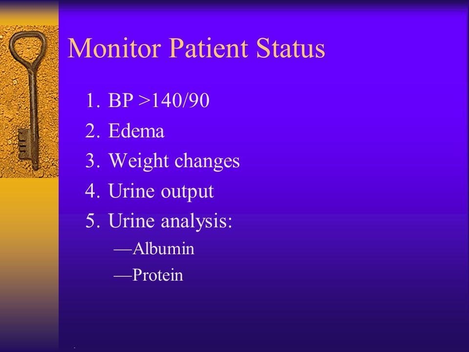 Monitor Patient Status