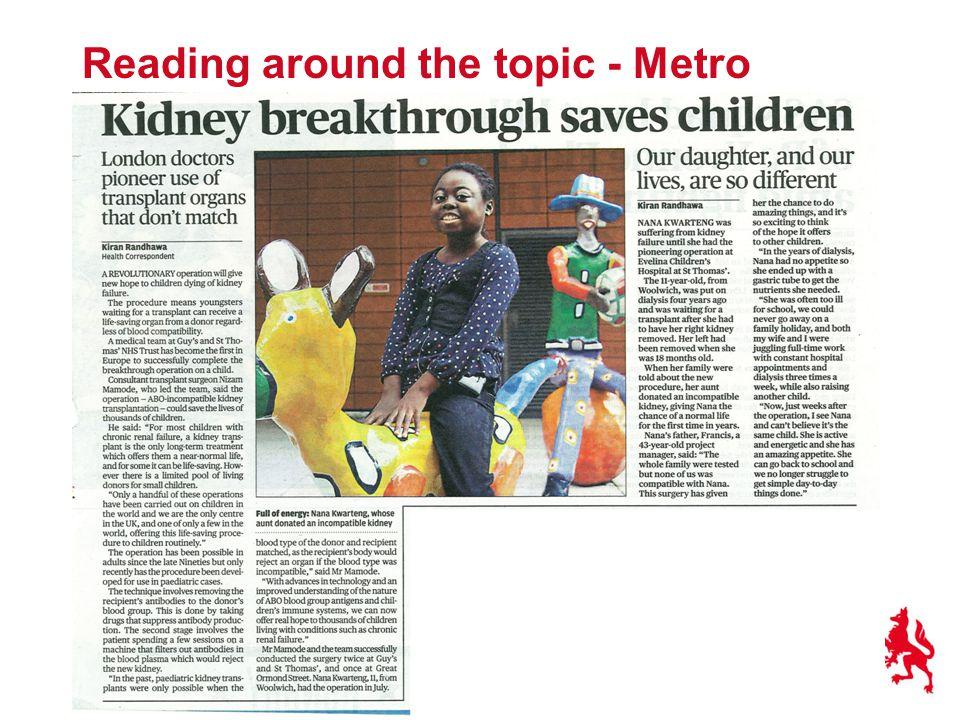 Reading around the topic - Metro