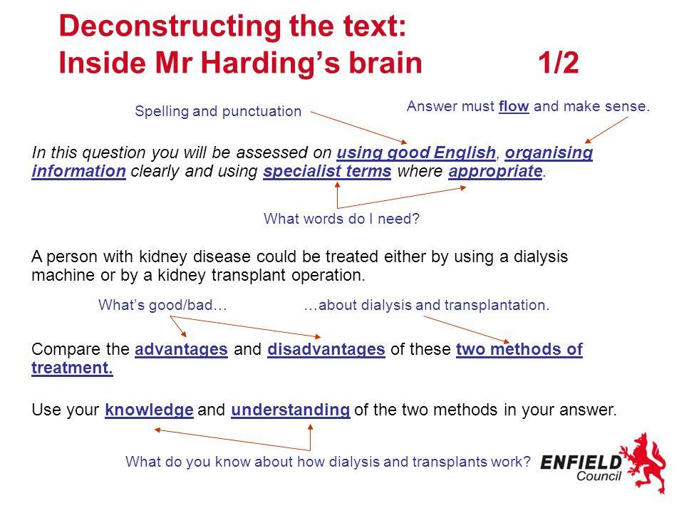Deconstructing the text: Inside Mr Harding's brain 1/2