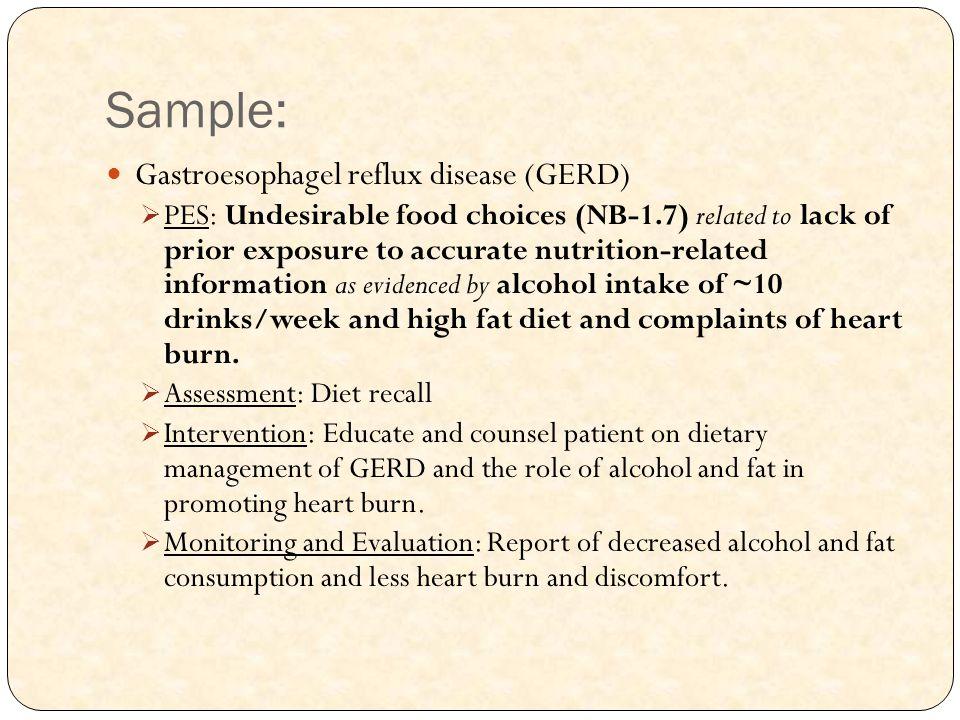 Sample: Gastroesophagel reflux disease (GERD)