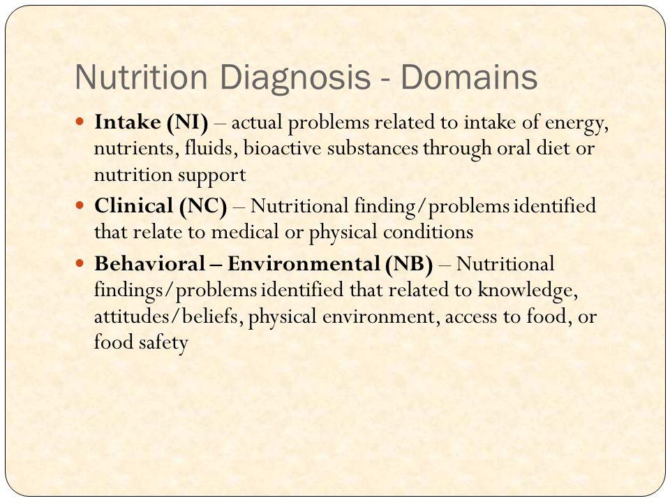 Nutrition Diagnosis - Domains