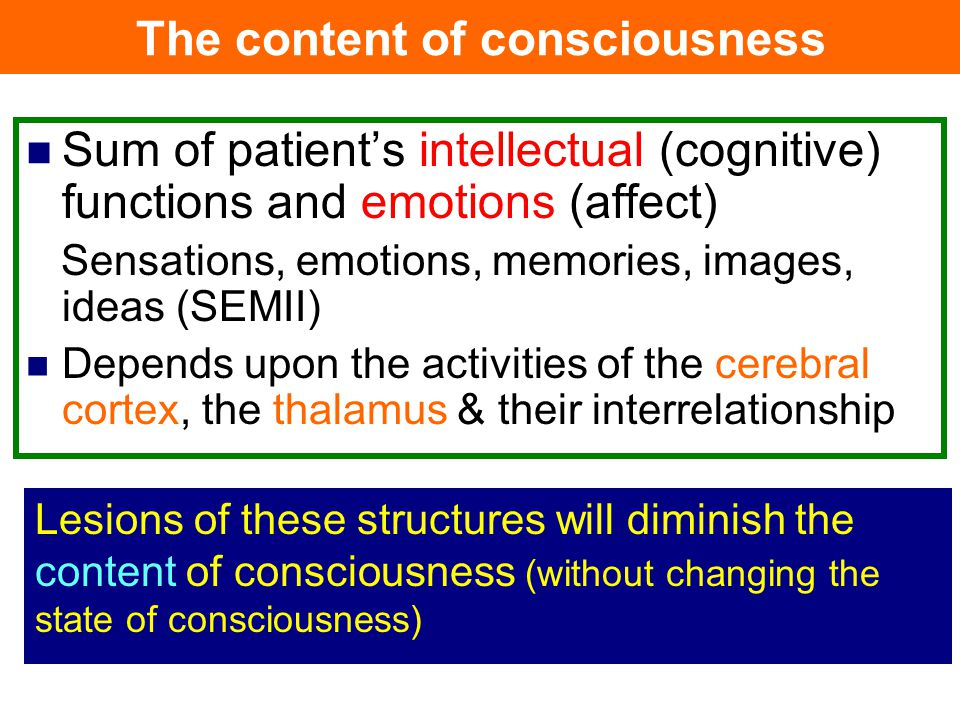The content of consciousness