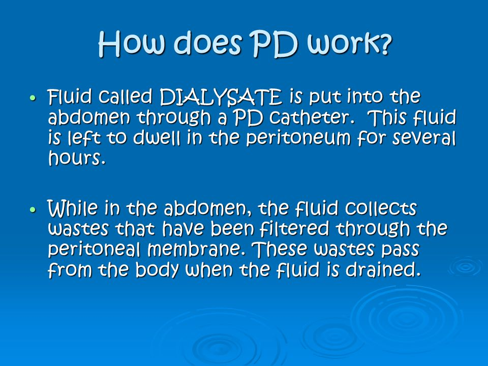 How does PD work