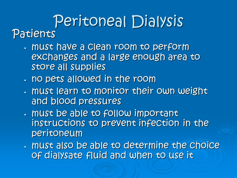 Peritoneal Dialysis Patients
