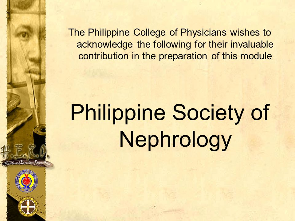 Philippine Society of Nephrology