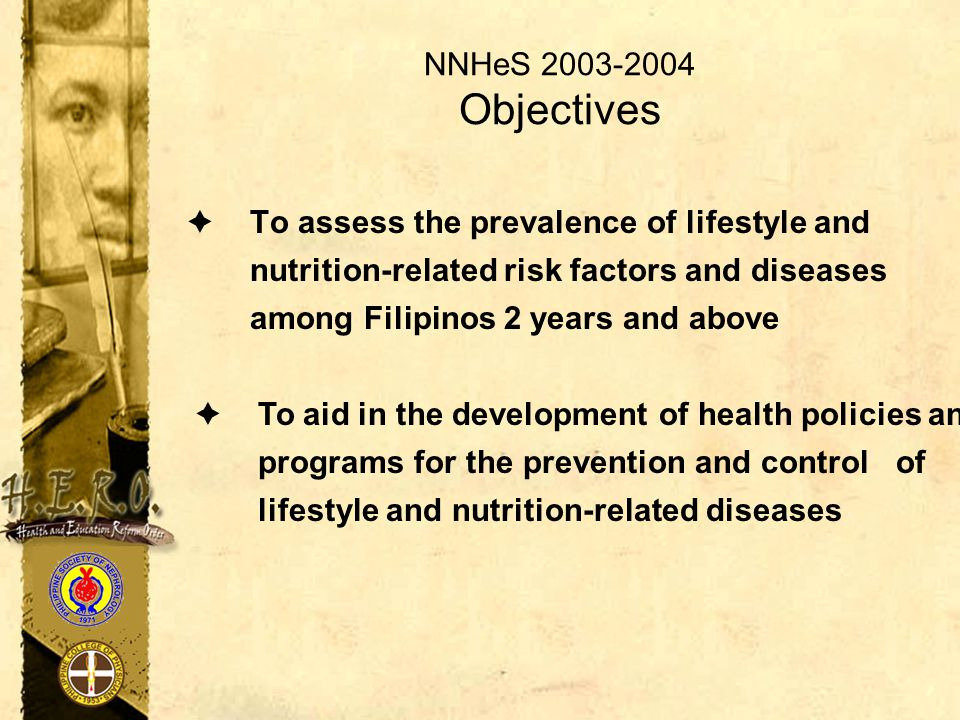 NNHeS 2003-2004 Objectives