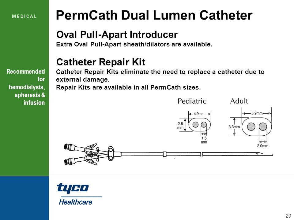 PermCath Dual Lumen Catheter