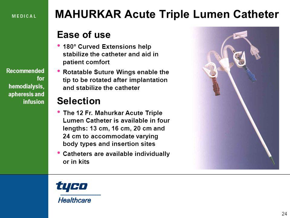 MAHURKAR Acute Triple Lumen Catheter