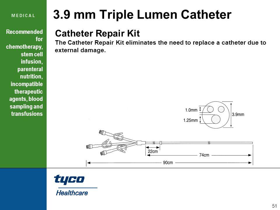 3.9 mm Triple Lumen Catheter