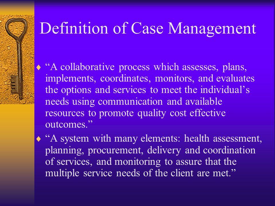 Definition of Case Management