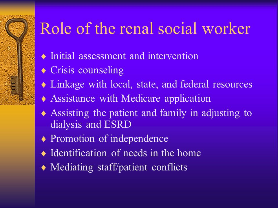 Role of the renal social worker