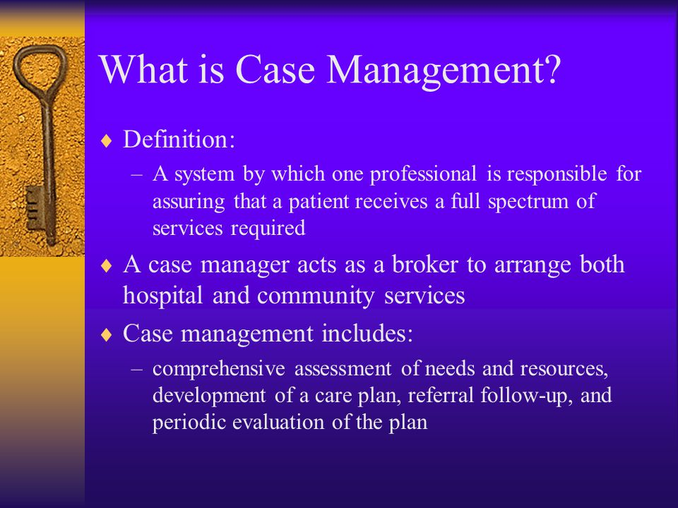 What is Case Management