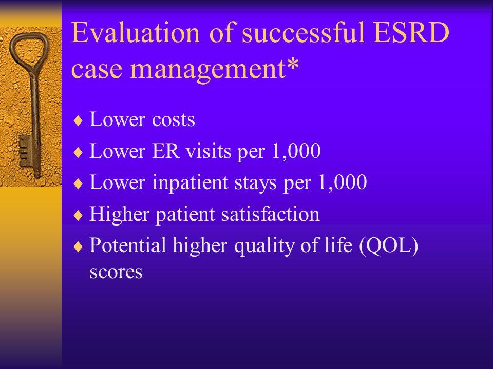 Evaluation of successful ESRD case management*