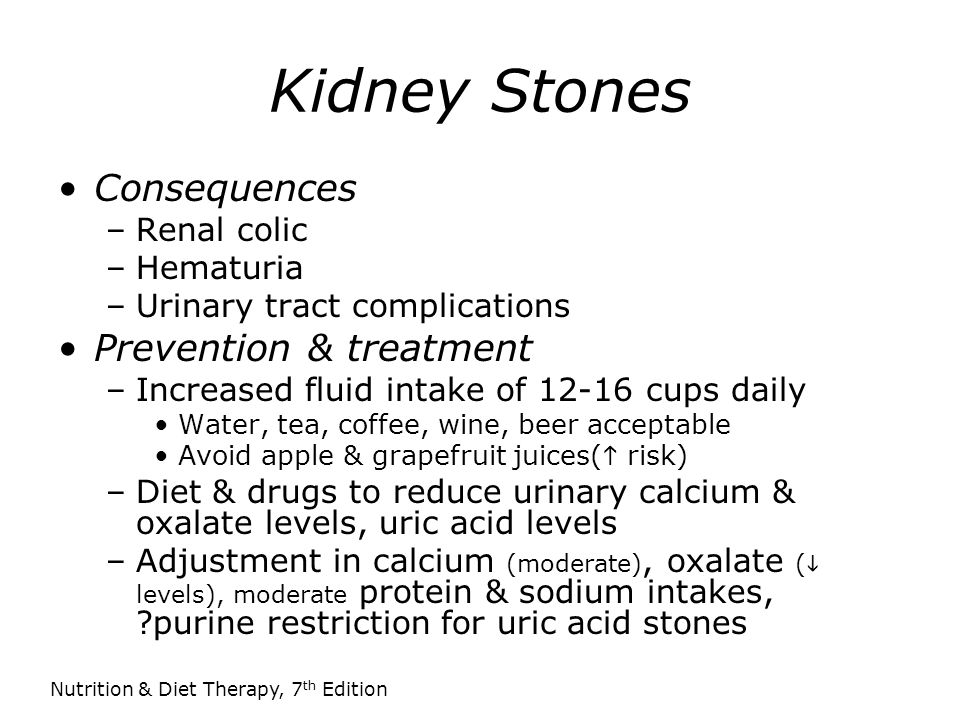 Kidney Stones Consequences Prevention & treatment Renal colic