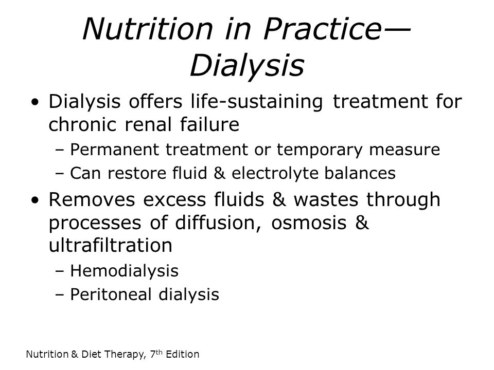 Nutrition in Practice—Dialysis