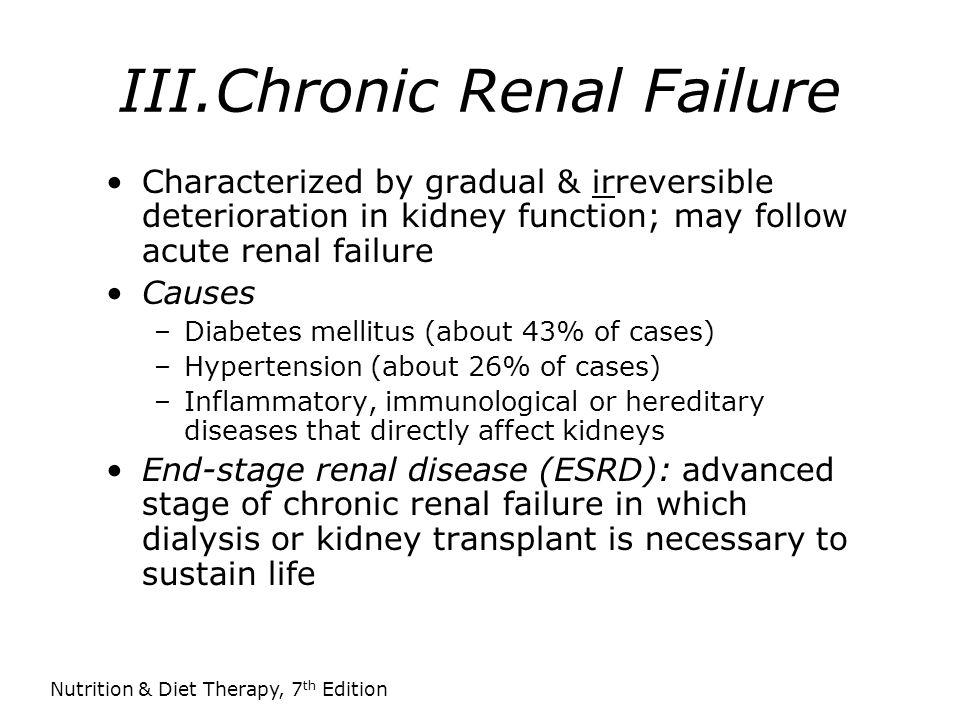 III.Chronic Renal Failure