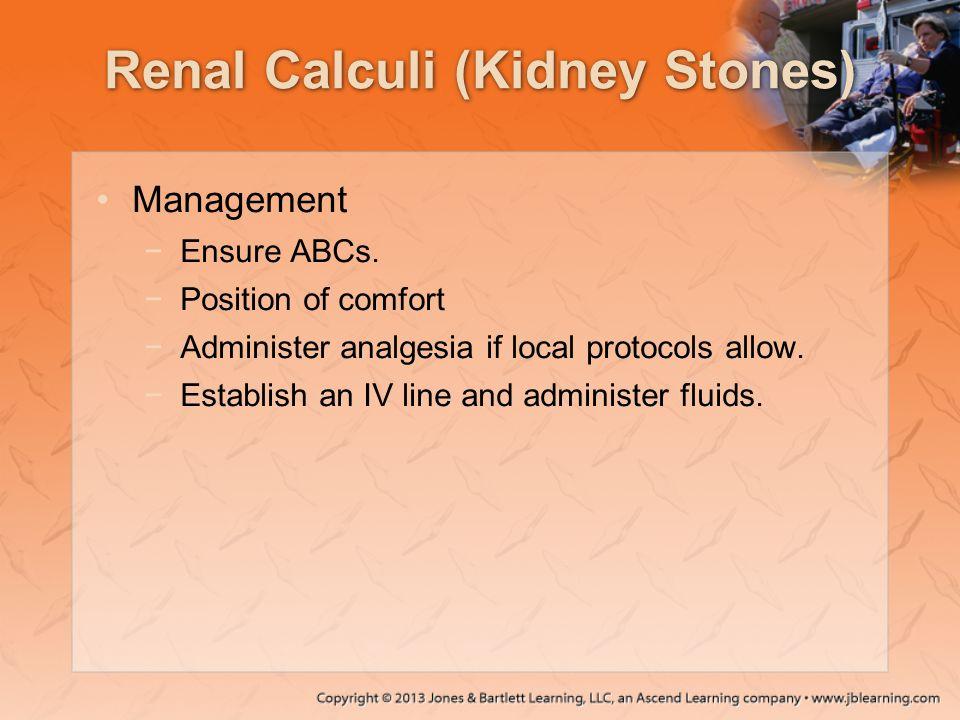 Renal Calculi (Kidney Stones)
