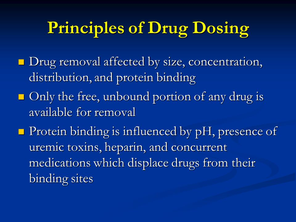 Principles of Drug Dosing