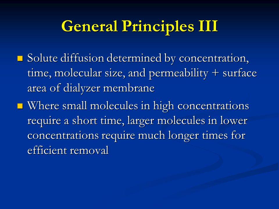 General Principles III