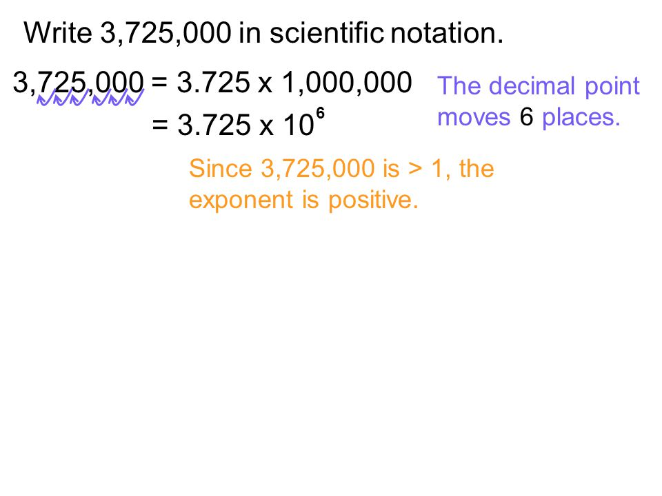 Write 3,725,000 in scientific notation.
