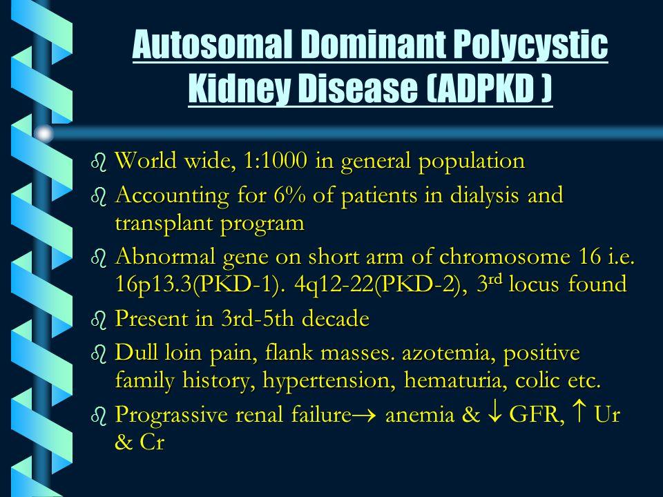 Autosomal Dominant Polycystic Kidney Disease (ADPKD )