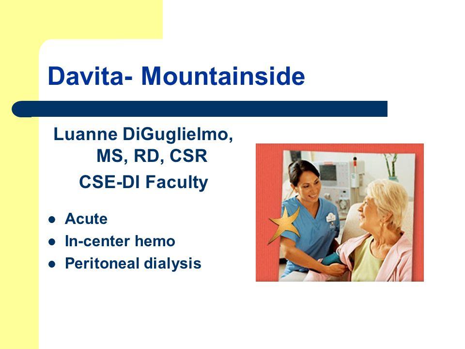 Luanne DiGuglielmo, MS, RD, CSR