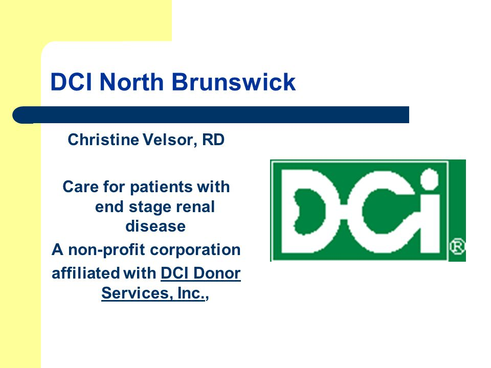 DCI North Brunswick Christine Velsor, RD