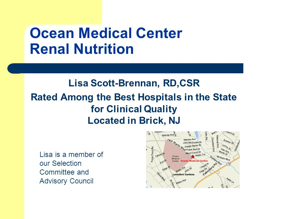 Ocean Medical Center Renal Nutrition