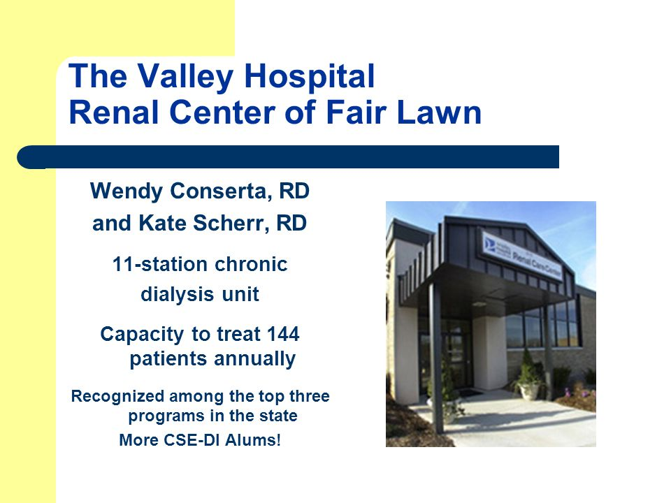 The Valley Hospital Renal Center of Fair Lawn