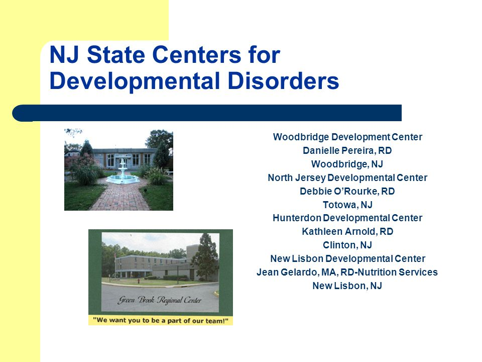 NJ State Centers for Developmental Disorders